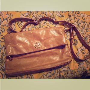 Tory Burch dena messenger bag - light brown